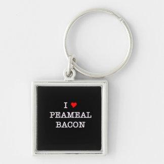 Bacon I Love Peameal Keychain