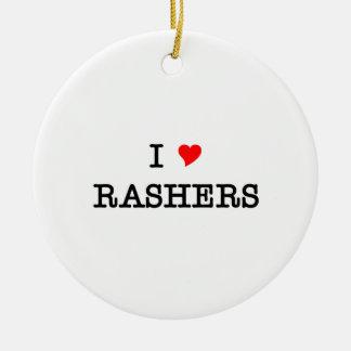 Bacon I Love Rashers Ceramic Ornament