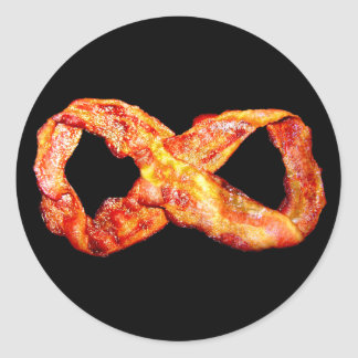 Bacon Infinity Symbol Classic Round Sticker