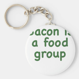 Bacon is a Food Group Basic Round Button Keychain