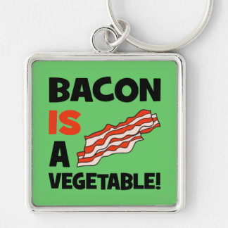 bacon is a vegetable keychain