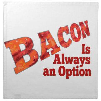 Bacon is Always an Option! Cloth Napkin