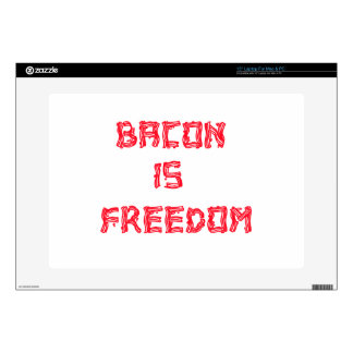 "Bacon Is Freedom Decals For 15"" Laptops"