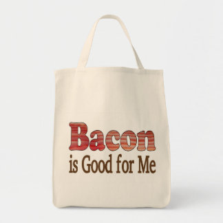 Bacon is Good For Me Grocery Tote Bag
