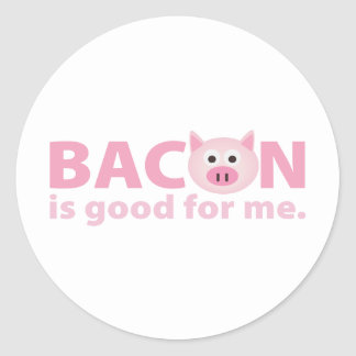 Bacon is Good for Me Classic Round Sticker