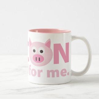 Bacon is Good for Me Two-Tone Coffee Mug