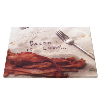 Bacon is Love Canvas Prints