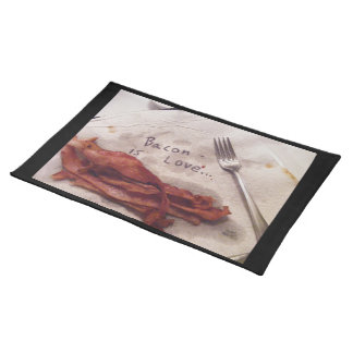 Bacon Is Love Cloth Placemat