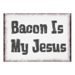 Bacon Is My Jesus 5x7 Paper Invitation Card