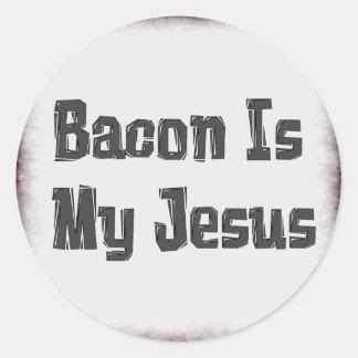 Bacon Is My Jesus Classic Round Sticker