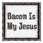 Bacon Is My Jesus 5.25x5.25 Square Paper Invitation Card