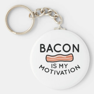 Bacon Is My Motivation Keychain
