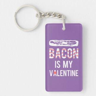 Bacon is my Valentine Bacon is My True Love Single-Sided Rectangular Acrylic Keychain