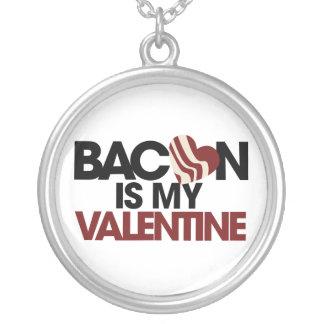 Bacon is my Valentine Round Pendant Necklace