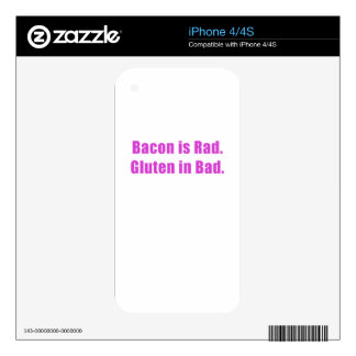 Bacon is Rad Gluten is Bad Skin For The iPhone 4S