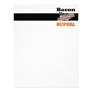 bacon is super letterhead