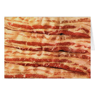 bacon is the best! greeting card