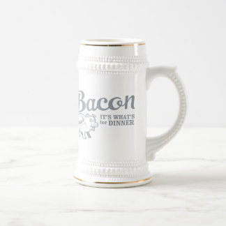 bacon - it's whats for dinner beer stein