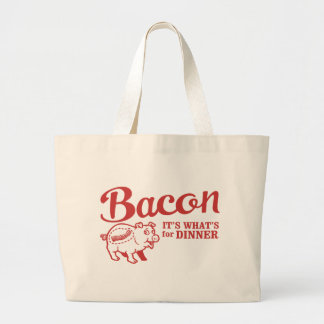 bacon - it's whats for dinner jumbo tote bag