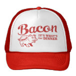bacon - it's whats for dinner mesh hat