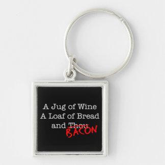 Bacon Jug of Wine Keychain