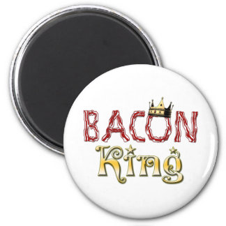 Bacon King with Crown 2 Inch Round Magnet