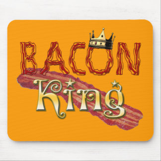 Bacon King with Crown Mouse Pad