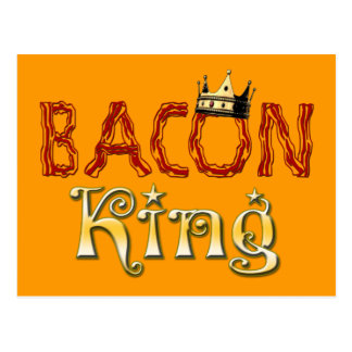 Bacon King with Crown Postcard
