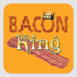 Bacon King with Crown Square Sticker