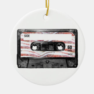 Bacon Label Cassette Ceramic Ornament