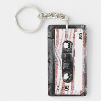 Bacon Label Cassette Double-Sided Rectangular Acrylic Keychain