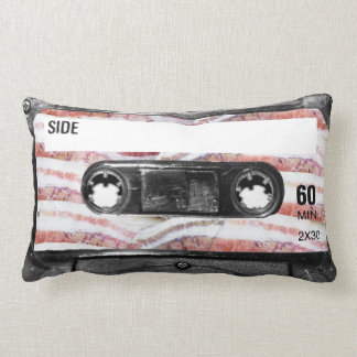 Bacon Label Cassette Throw Pillow