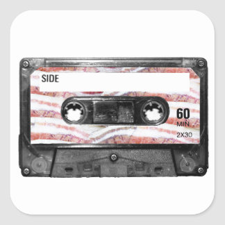 Bacon Label Cassette Square Stickers