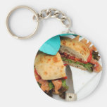 Bacon Lettuce And Tomato Basic Round Button Keychain