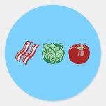 Bacon Lettuce & Tomato - The BLT! Classic Round Sticker