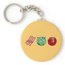 Bacon Lettuce & Tomato - The BLT! Keychain