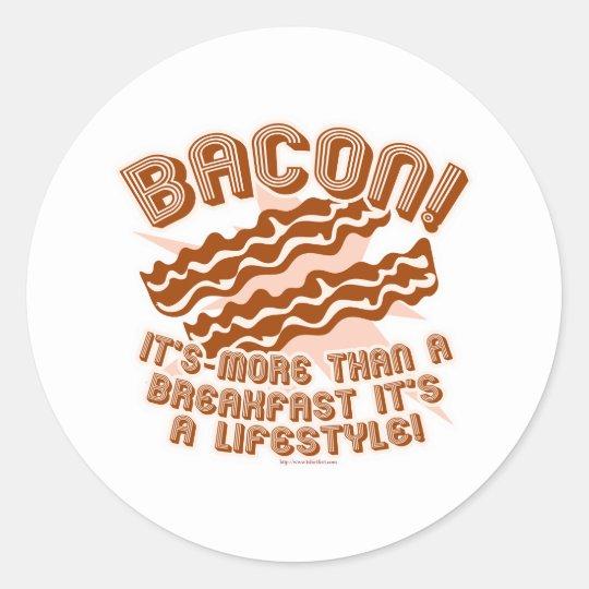 Bacon Lifestyle Classic Round Sticker