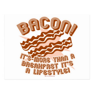 Bacon Lifestyle Postcard