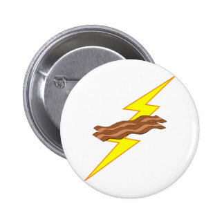 Bacon Lightning 2 Inch Round Button