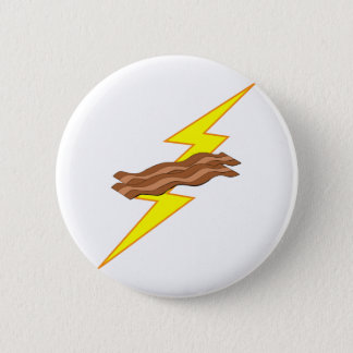 Bacon Lightning Pinback Button