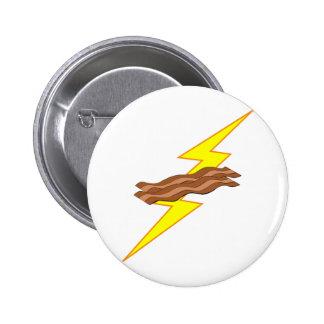 Bacon Lightning Pinback Button