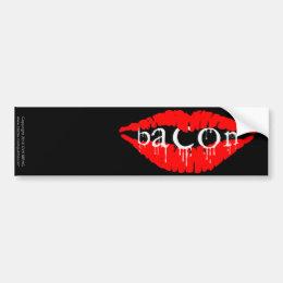 Bacon Lips Bumper Sticker