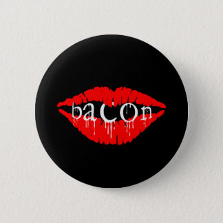 Bacon Lips Pinback Button
