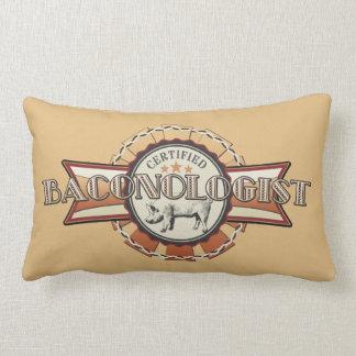 Bacon LOVE certified Baconologist Lumbar Pillow