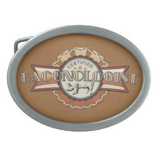 Bacon LOVE certified Baconologist Oval Belt Buckle