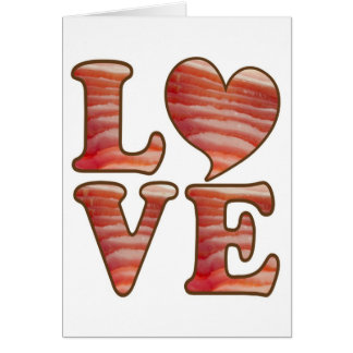 Bacon Love Greeting Card