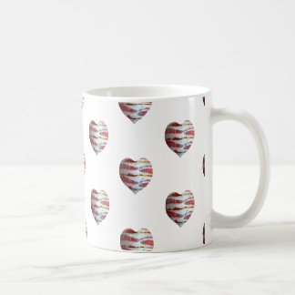 Bacon Love Heart Pattern Coffee Mug