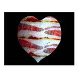 Bacon Love Heart Postcards