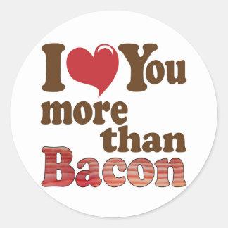 Bacon Lover Classic Round Sticker