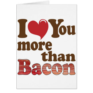 Bacon Lover Greeting Card